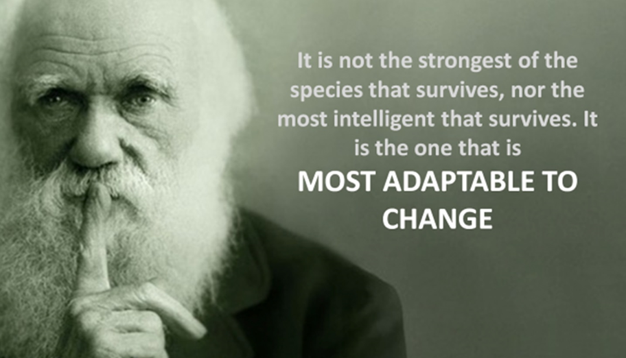 Darwin - most adaptable to change